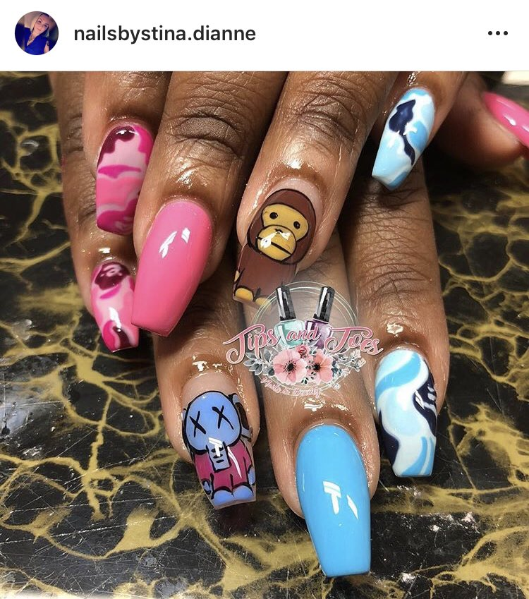 Ion have anything to promote so y'all check out my nail tech's @iStinaKre IG nailsbystina.dianne