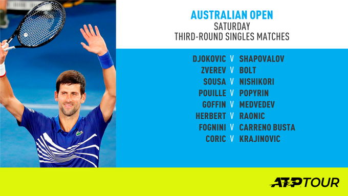 Quite an excellent way to begin the weekend, if we may say so ourselves 🤗 #AusOpen Фото