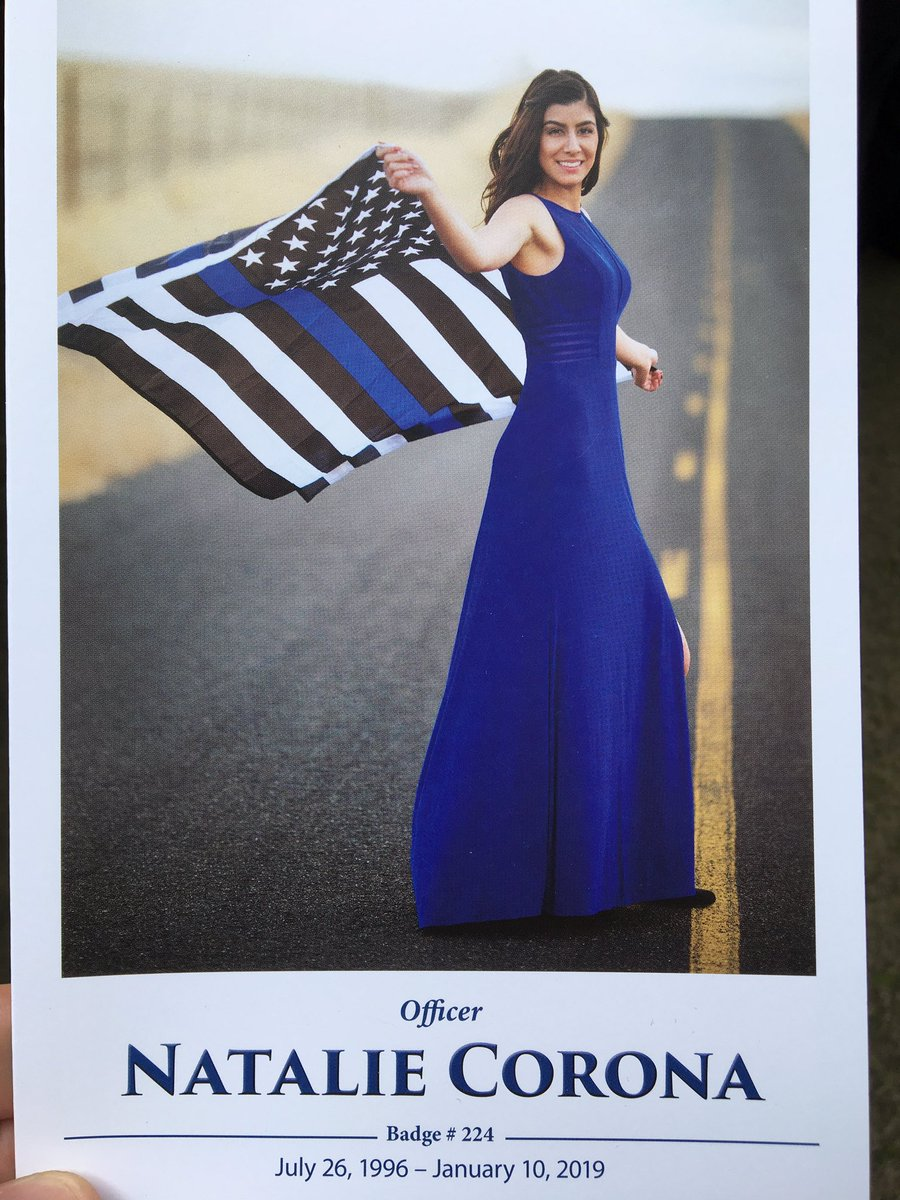 #SantaAnaPD along with hundreds of law enforcement agencies payed respects to Davis PD, Officer Natalie Corona this morning. Our thoughts and prayers are with her family and the Davis, CA community #RIPOfficerNatalieCorona<br>http://pic.twitter.com/LWlzO2CbZ4