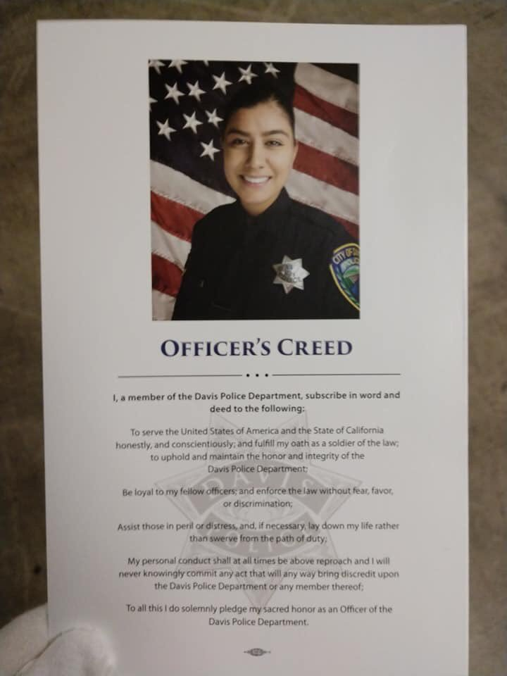 We're in California to pay our respects for @cityofdavispd Officer Natalie Corona. Heaven gained a blue angel.  <br>http://pic.twitter.com/LR1YXF0Gh3