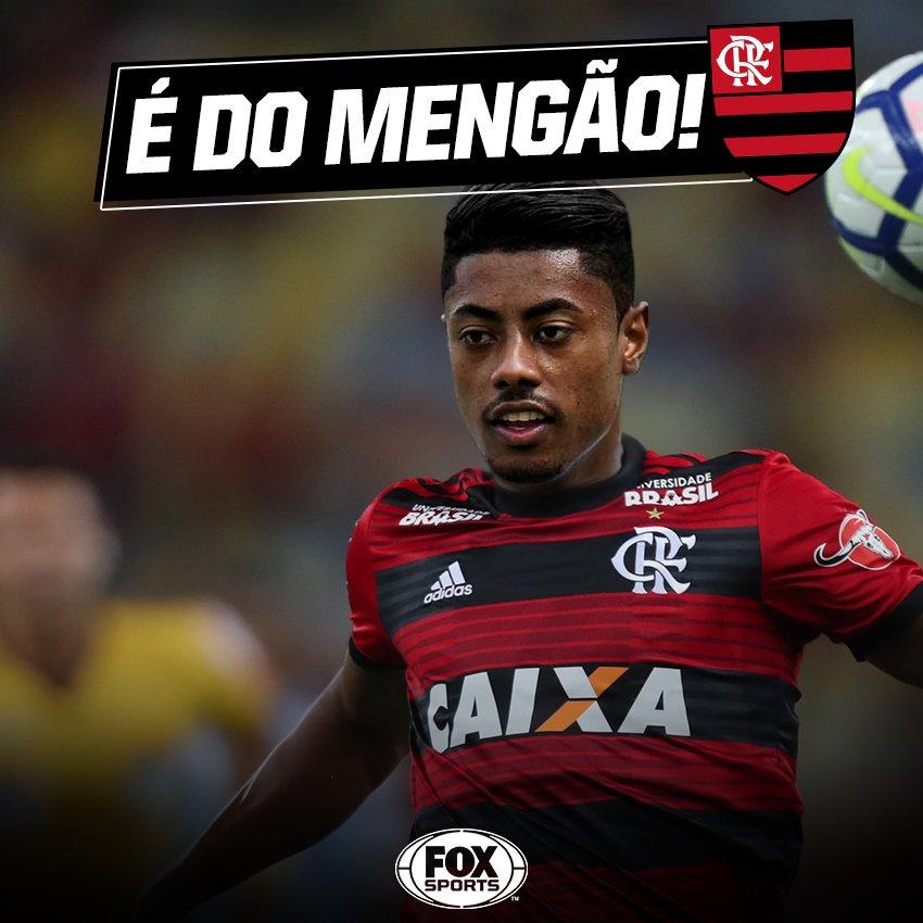 🔴⚫ FIM DA NOVELA! Segundo @pvcefox@Flamengo, o  acertou com o atacante Bruno Henrique,@SantosFC do , por R$ 23 milhões! A negociação também envolve a ida do volante Ronaldo ao Peixe por um ano de empréstimo!