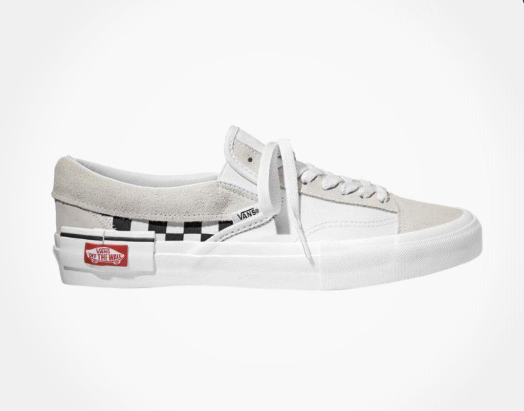 white checkered vans footlocker
