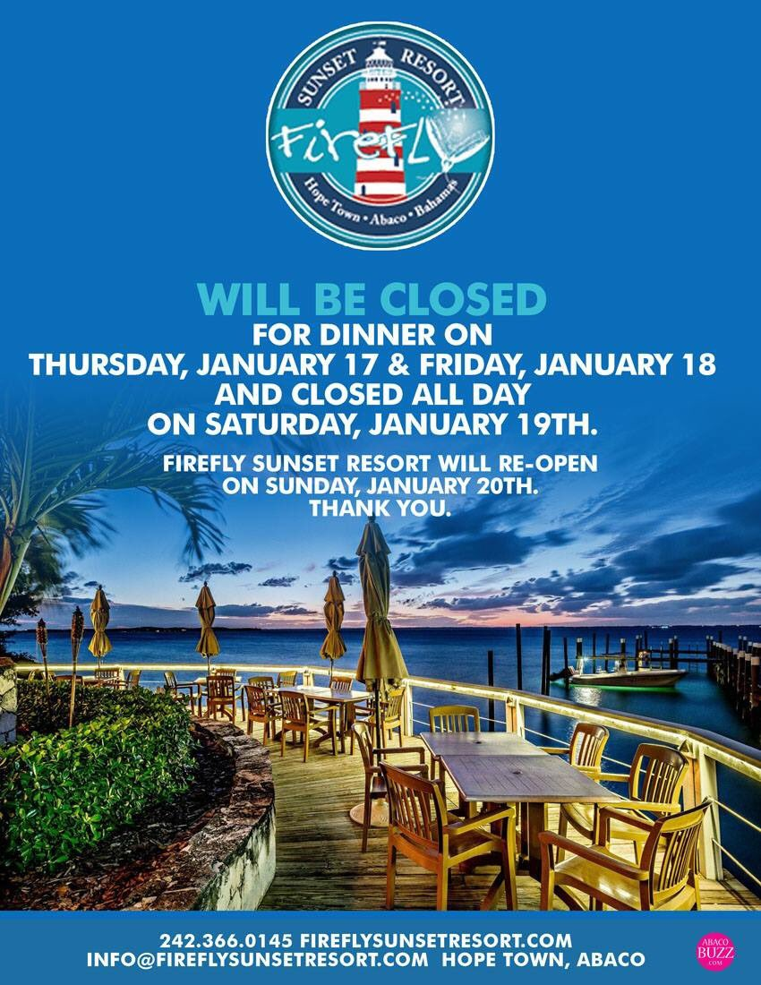 Firefly Resort Abaco On Twitter Reminder We Are Closed
