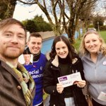 Image for the Tweet beginning: Great craic was had leafleting