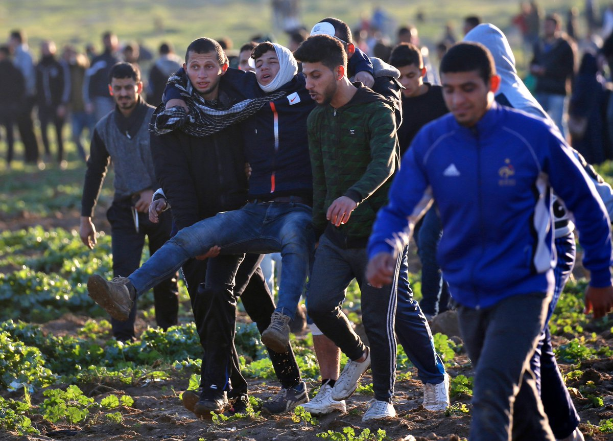Israeli forces shot and wounded 30 Palestinians during Friday protests along the Israel-Gaza fence, says the Palestinian Health Ministry.  Over 185 Palestinians have been killed in the past 10 months during ongoing weekly protests against the 11-year blockade.