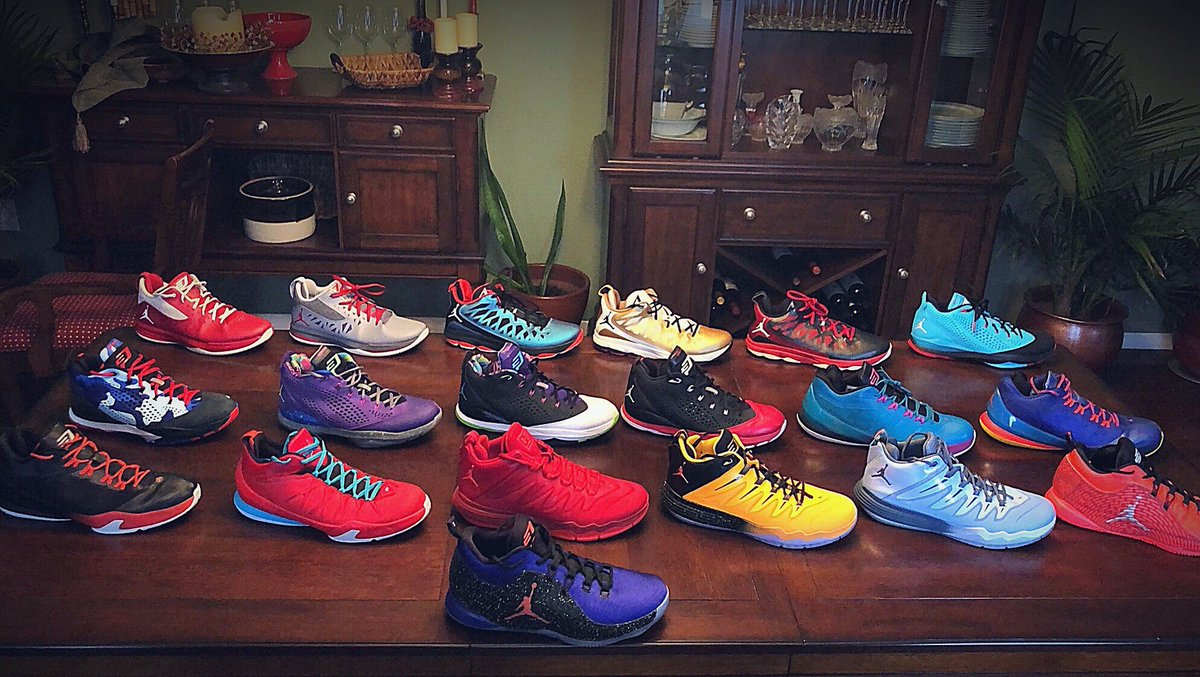 My Jordan @CP3 collection as it stands right now. #SneakerHead 👟#PointGod