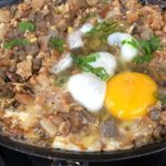 Image for the Tweet beginning: Sizzling sisig perfection from the