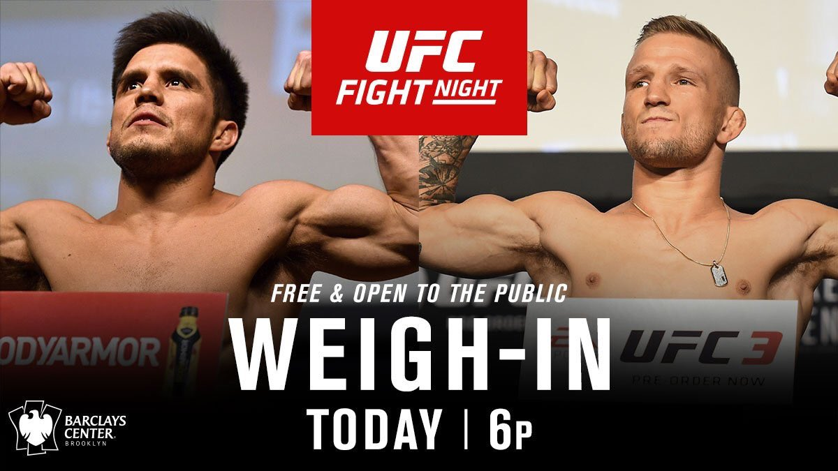 Weigh ins are FREE and open to the public today at @barclayscenter at 6pm!!!