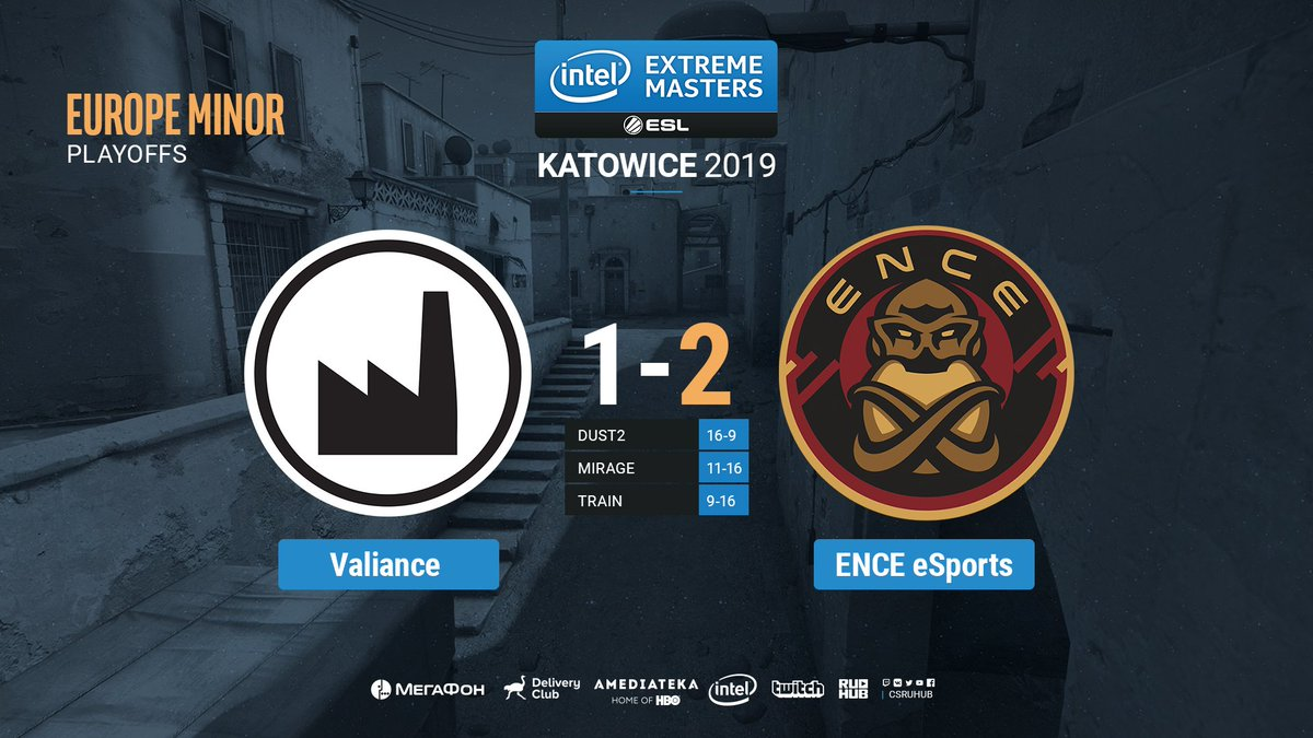 ENCE eSports обыграли Valiance.  #IEM #CSGO #RuHub https://t.co/jqK6f1SPm0