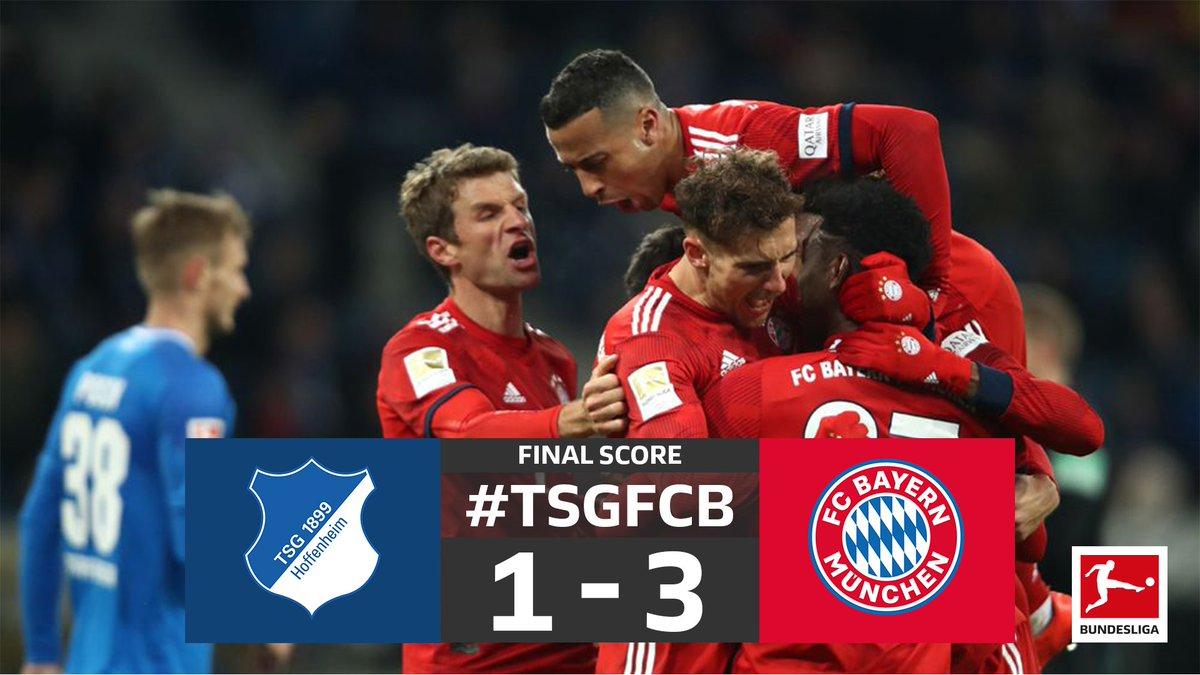 The #Bundesliga comes back with a bang 💥  @FCBayernEN stay hot on Dortumund's tail 🤗  2019, are you ready? 😏  #TSGFCB
