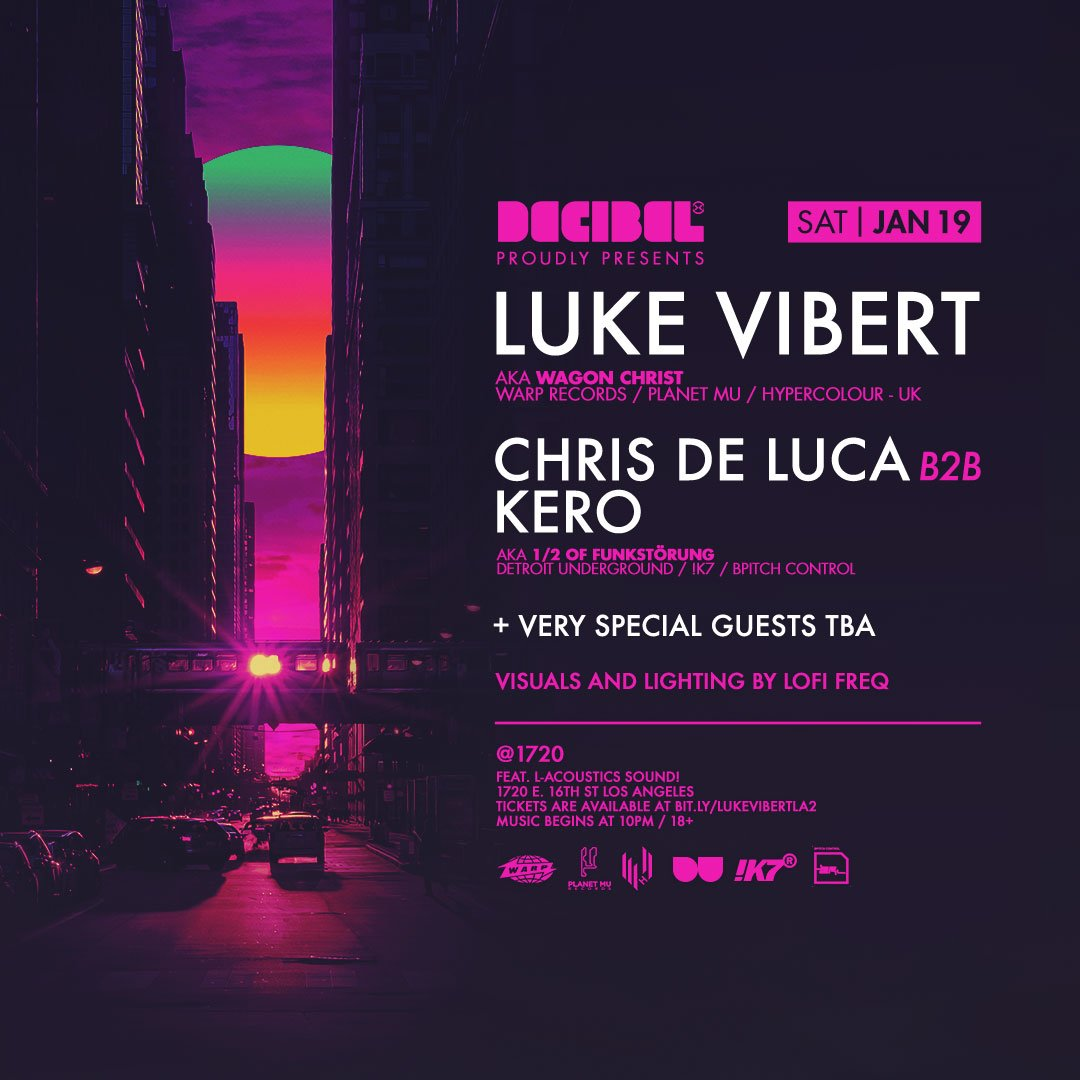 Tomorrow at  1720warehouse in LA we re proud to be welcoming back   LukeVibert  LukeVibert  with special guests  Keroreud  chrisdeluca01     LoFiFreq. 0e043a7f4f8