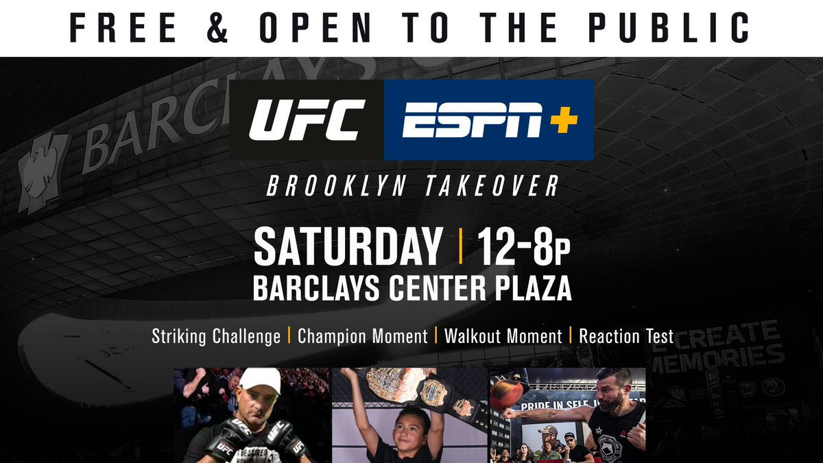 It goes down in Brooklyn!  Get to @BarclaysCenter early to see the new belt & so much more. #UFCBrooklyn