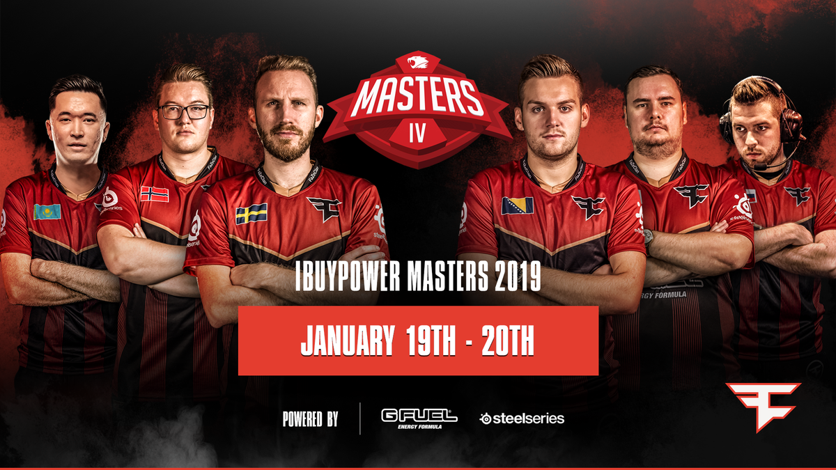 The new-look FaZe CS:GO lineup make our 2019 debut this weekend at the @iBUYPOWER Masters!  January 19th-20th, Los Angeles, California.  #FaZeUp
