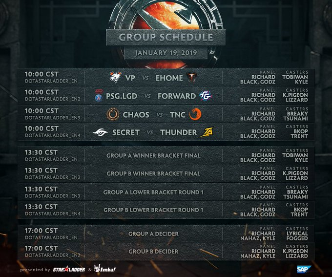 The @DOTA2 Major begins in 4 hours time! I will be casting the first 2 series on the main stream with @keepingitKyle Фото