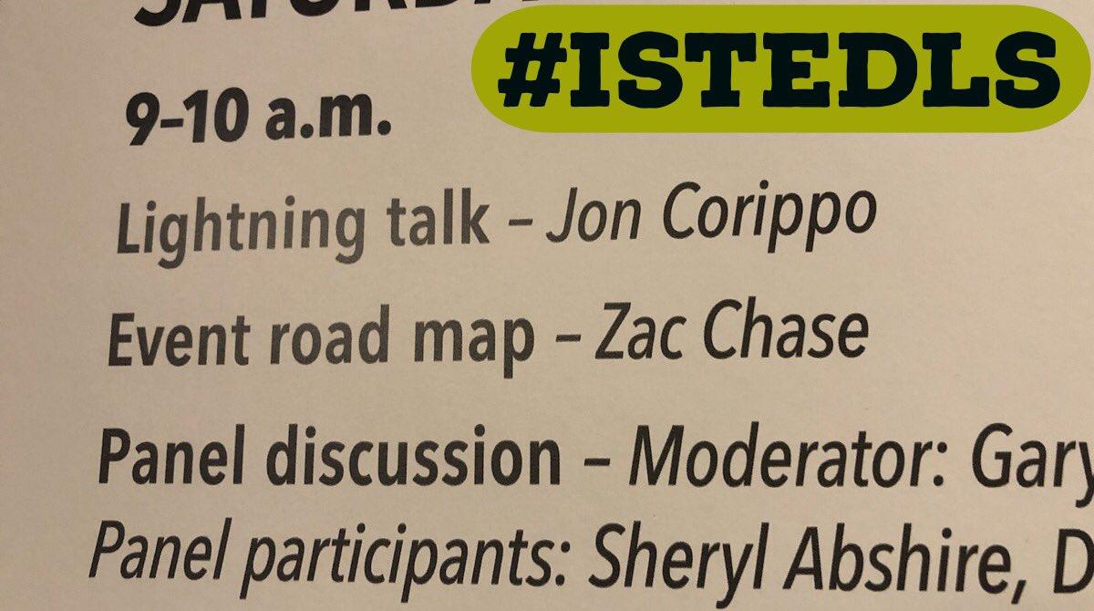 I'm ready for some lightening talks @jcorippo #istedls @ISTE @cueinc @CUERockStar