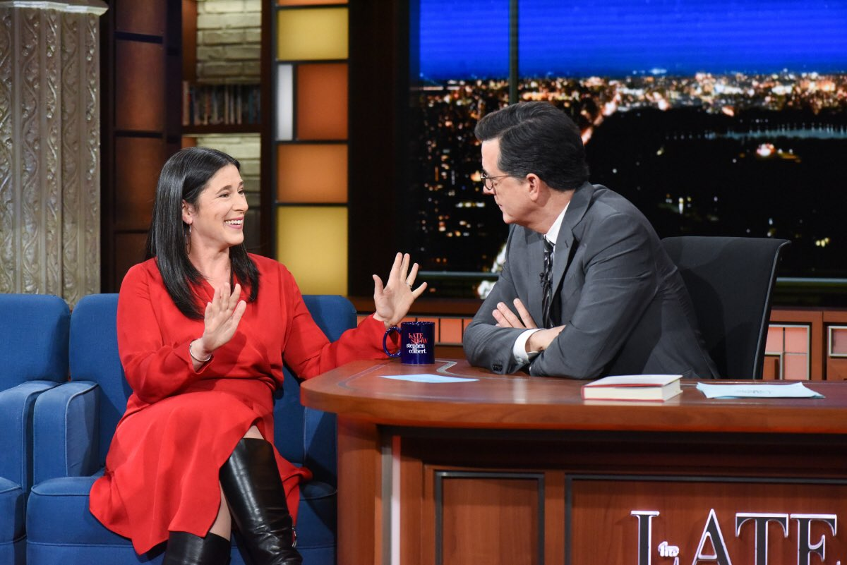 I'm going to be on Colbert tonight. 😱