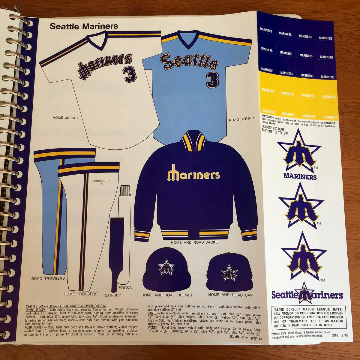 24a2fba895adca #flashbackfriday Style guide for the 1983 Seattle #Mariners uniforms. The  people want them to bring back those home uniforms so badly.