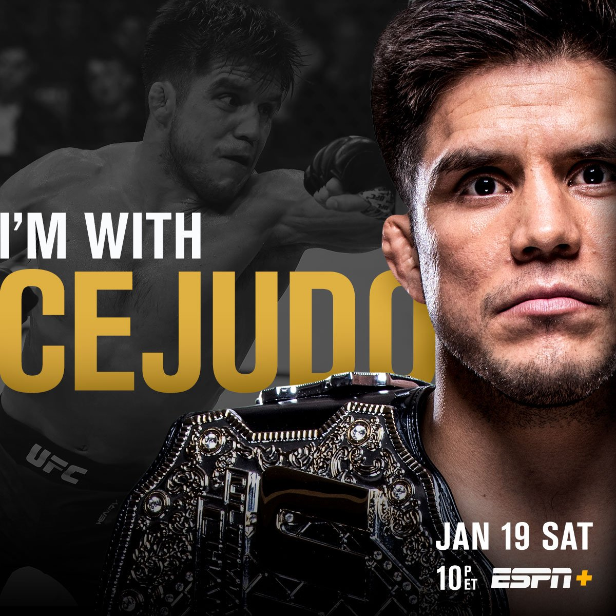 First defense incoming?! 🏆  RT if you're w/ @HenryCejudo at #UFCBrooklyn | TOMORROW | LIVE on @ESPN+