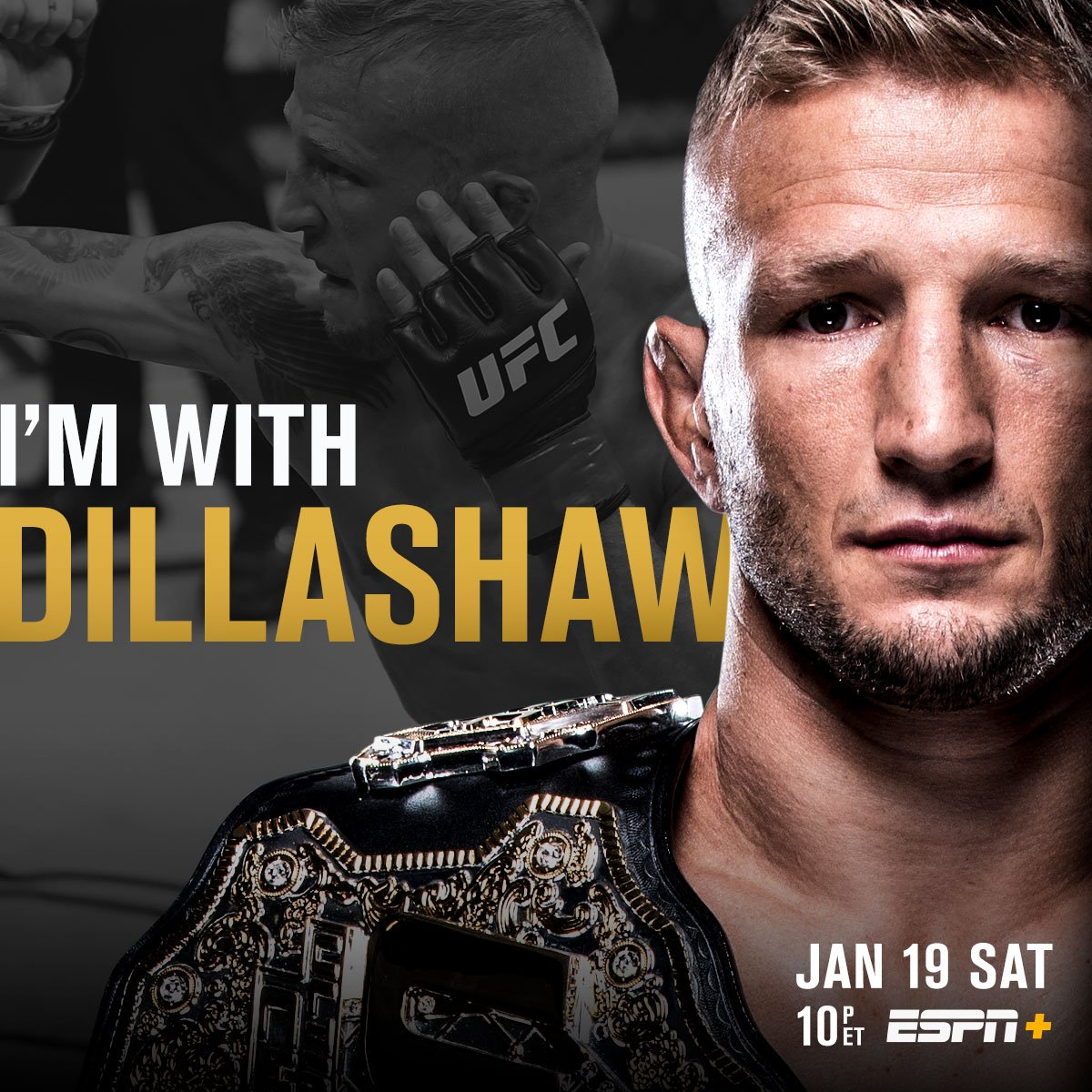 The next Double Champ? 🏆🏆  RT if you're w/ @TJDillashaw at #UFCBrooklyn | TOMORROW | LIVE on @ESPN+