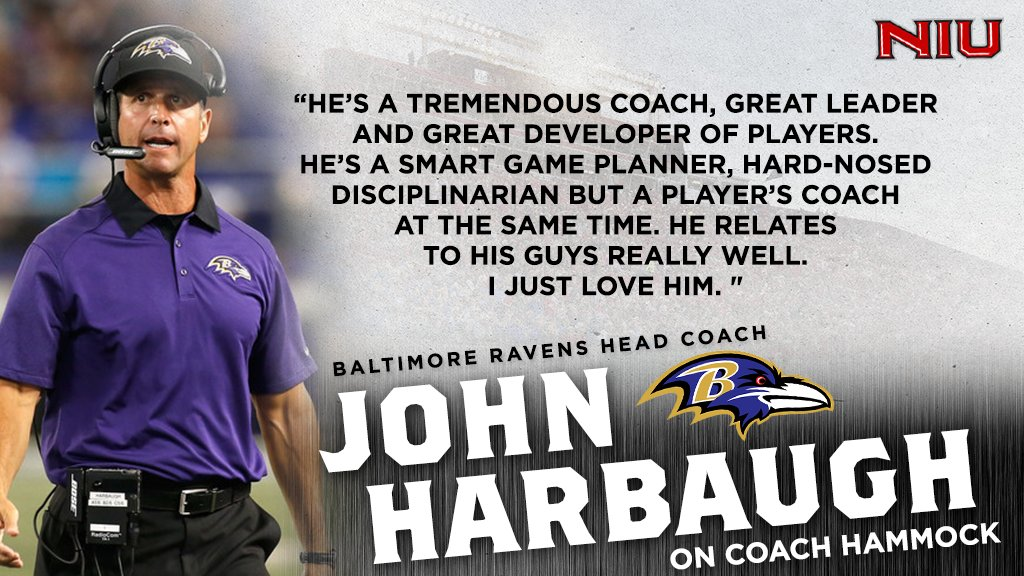 Thoughts from @Ravens Head Coach John Harbaugh on Coach Hammock...  #TheHardWay #HuskieNation<br>http://pic.twitter.com/rm5amVUzww