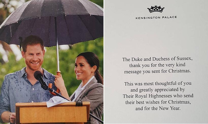 La segunda tarjeta navideña de Harry y Meghan que nunca llegamos a ver https://t.co/b9TO24HpIW