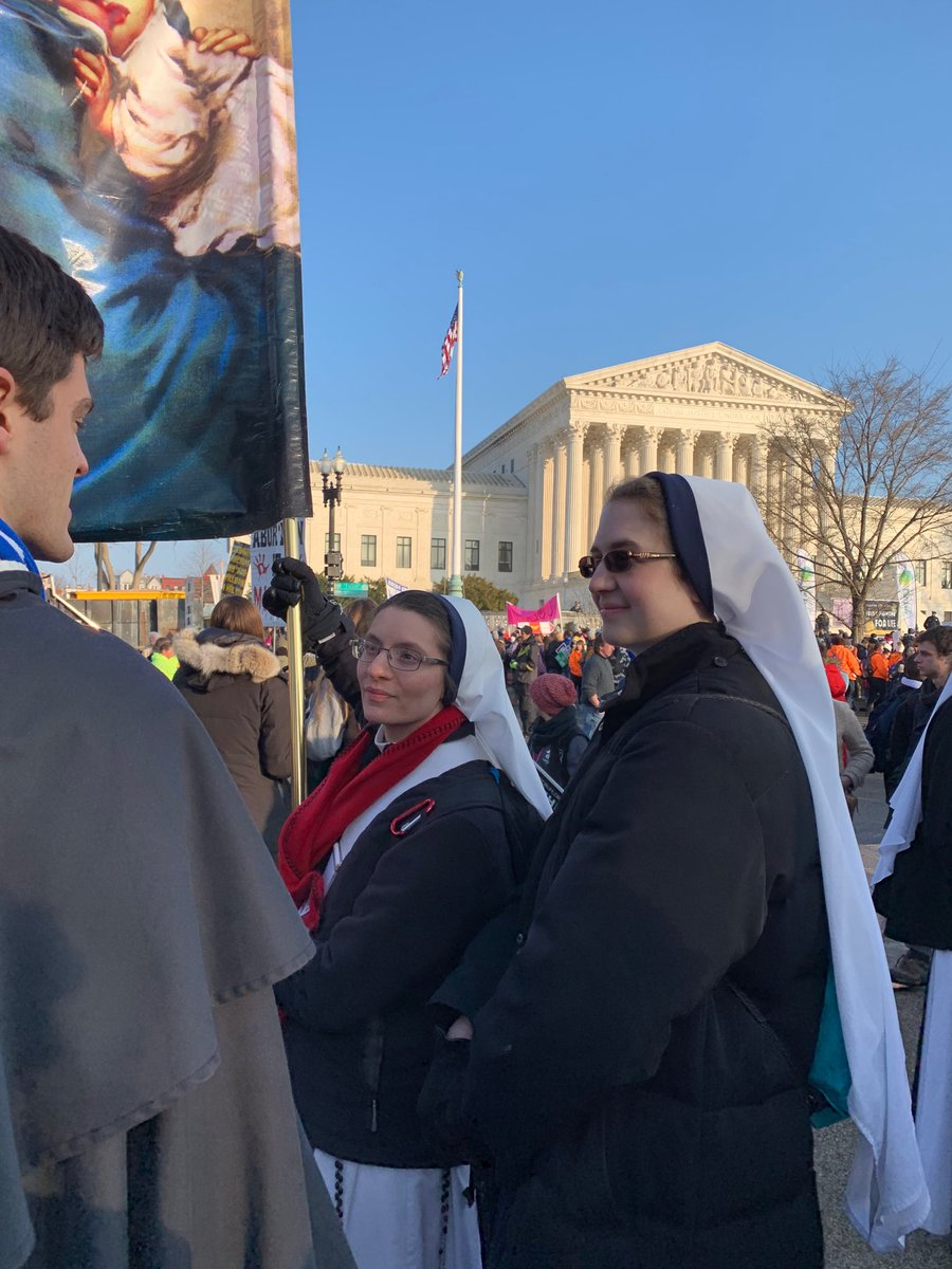 Sisters of Life across from the Supreme Court @March_for_Life #WhyWeMarch