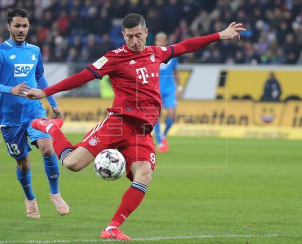 Goretzka y Lewandowski le dan la victoria al Bayern ante elHoffenheim Foto