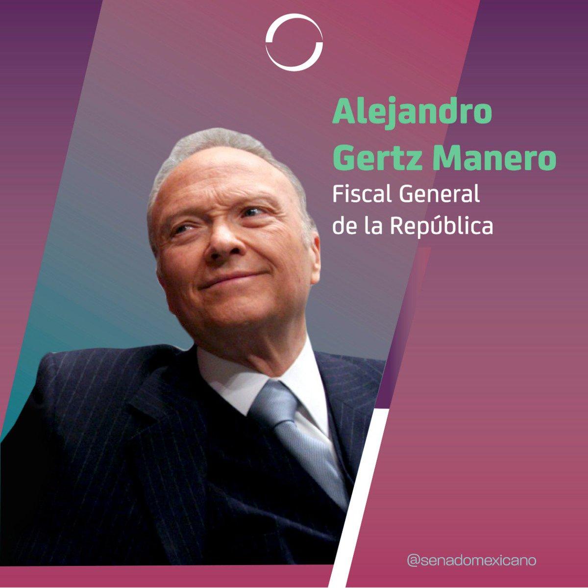 🔴 Con 91 votos a favor se designa a Alejandro Gertz Manero como Fiscal General de la República.