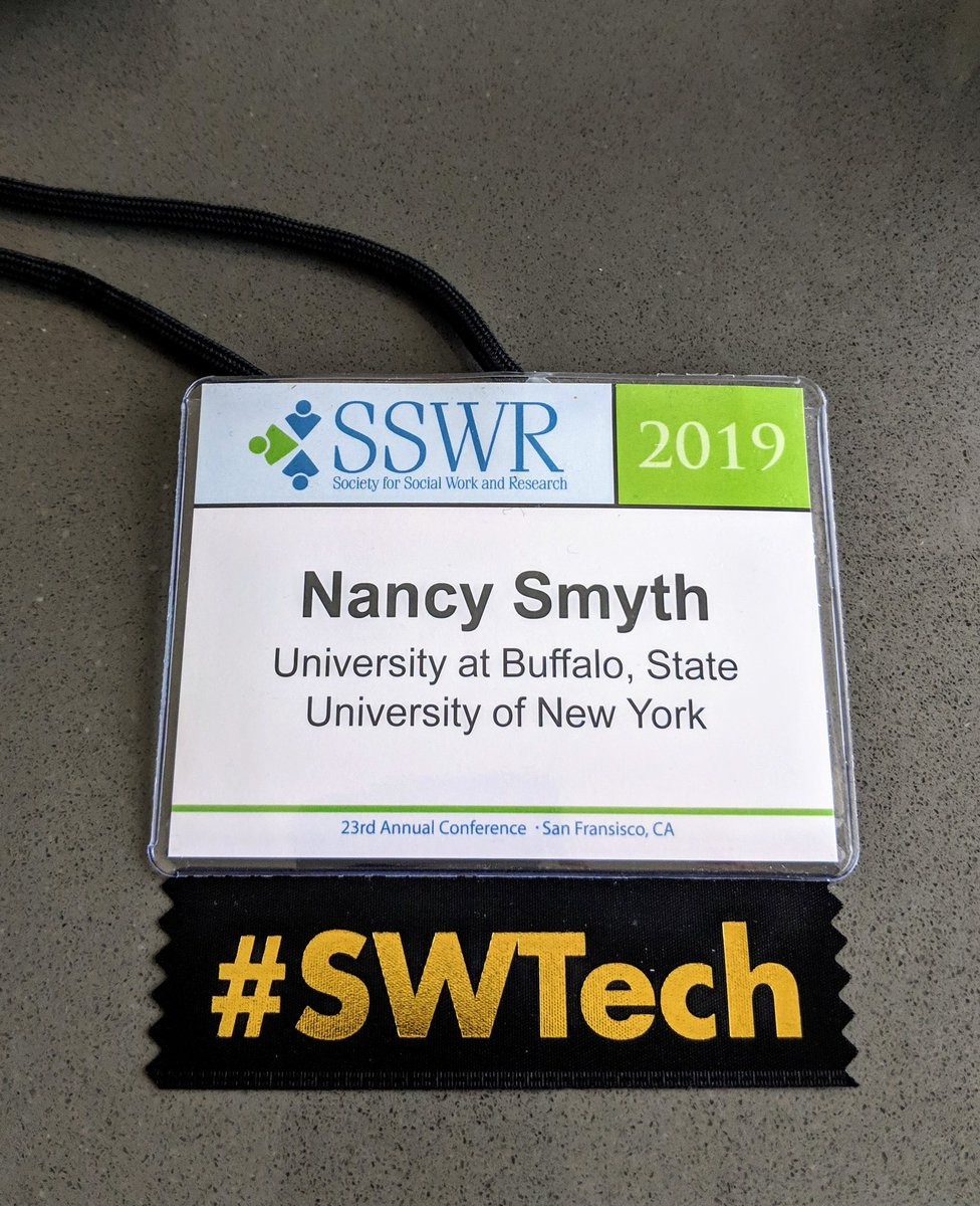 Feeling much better now that I have my #SWtech ribbon #SSWR2019