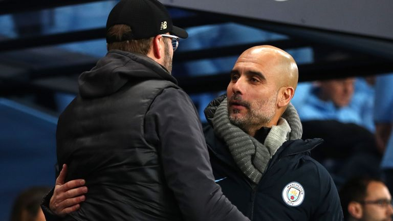 """#ManchesterCity manager Pep #Guardiola says #Liverpool fully deserve their place at the top of the #PremierLeague.""""We still have a lot of games to play but all I can say right now, to #Liverpool, and what they have done so far, is hats off."""""""