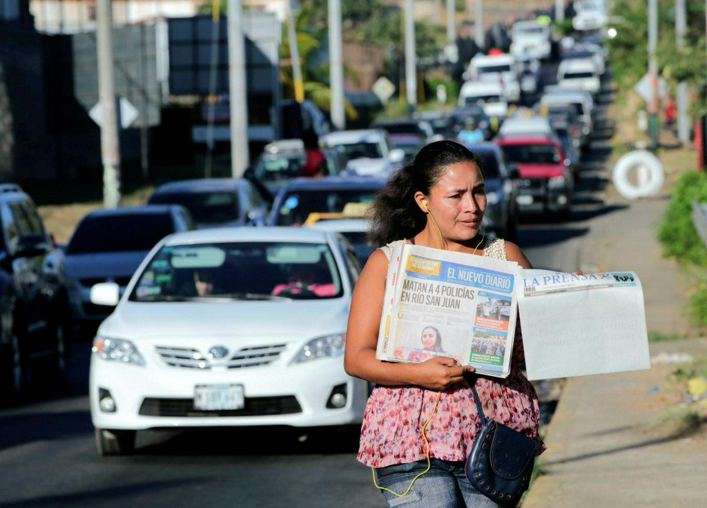 Nicaragua paper runs blank front page in protest of Ortega government https://reut.rs/2U0gPeq