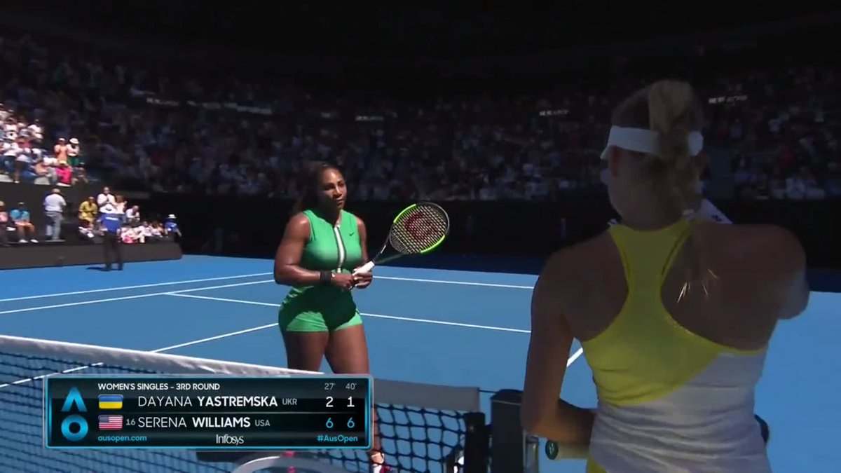 """""""You did amazing. You did so well. You did amazing. Don't cry. You did really well.""""  ❤️ @serenawilliams   #AusOpen"""
