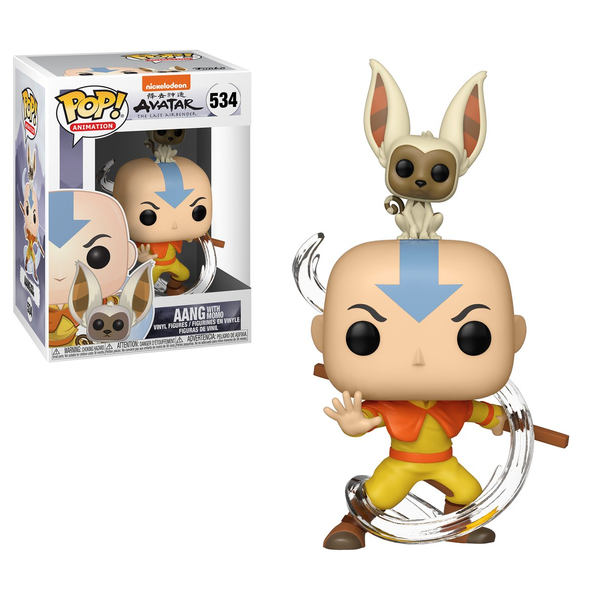 RT & follow @OriginalFunko for a chance to win a Aang with Momo Pop!