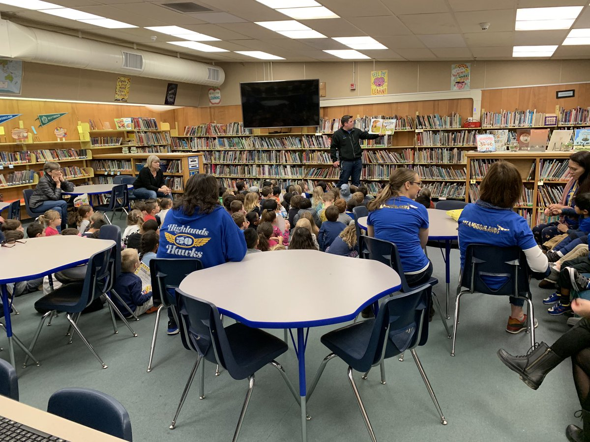 Story time with @sheehyrw after the Pre K/TK/K student of the month assembly!