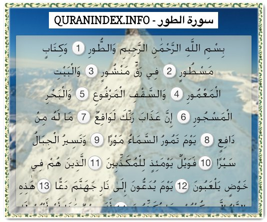Browse, Read, Listen, Download and Share #Surah At-Tur [52