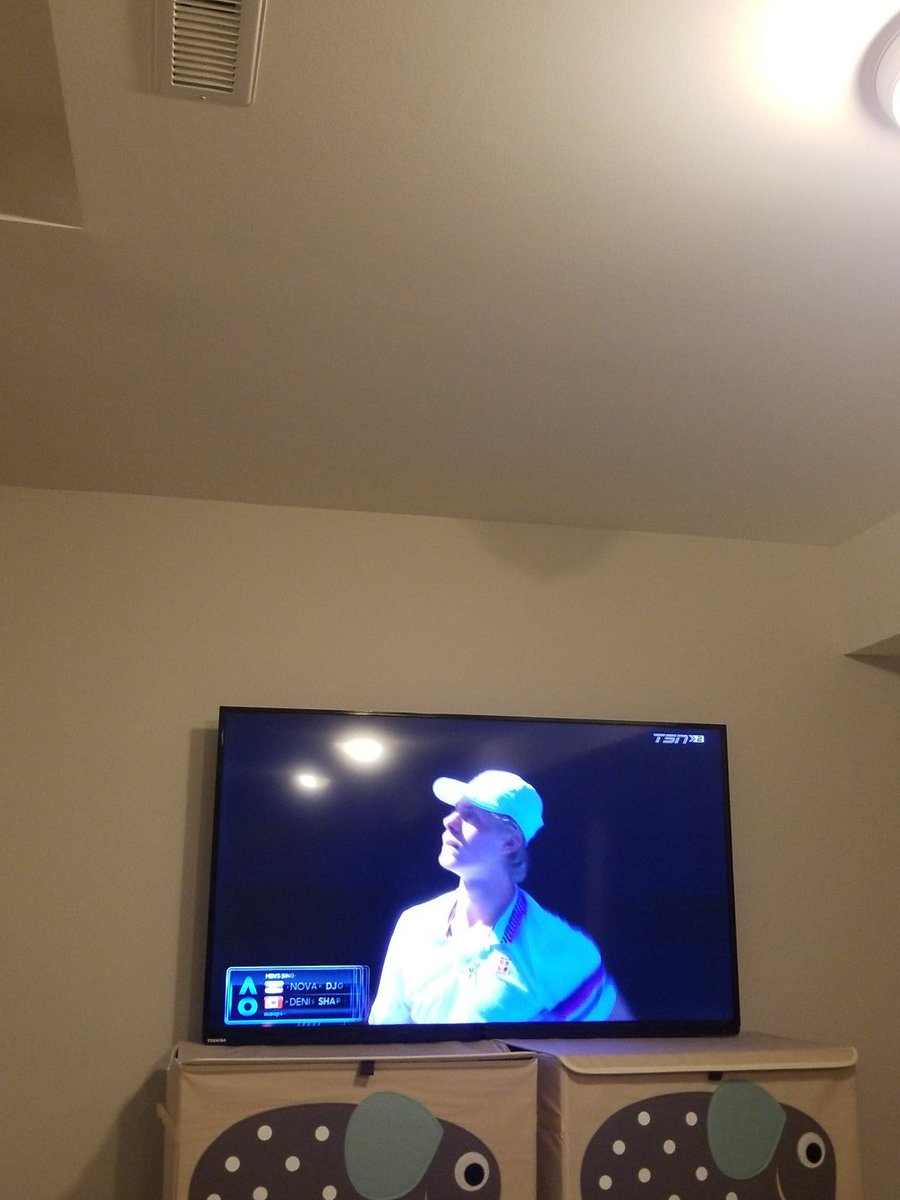 What else would I be doing than watching Shapo and @milosraonic do their thing in Oz @TennisCanada