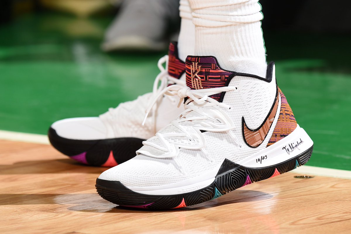 e23a0d7b037c KyrieIrving pulling out the Nike Kyrie 5