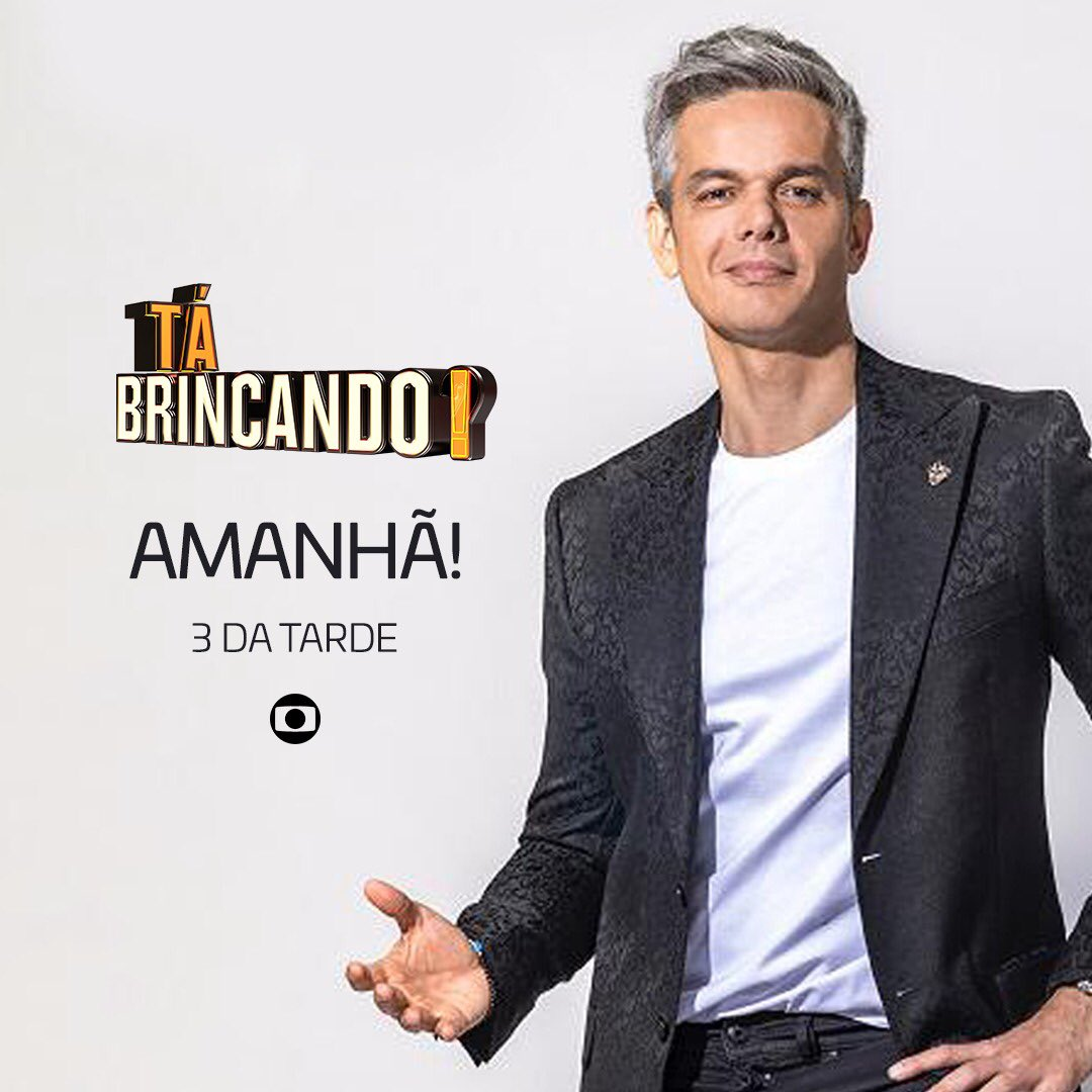 Boa noite gente, amanhã é dia de #TáBrincando às 3 da tarde na Rede Globo 😎