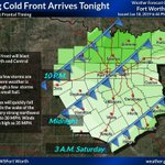 Image for the Tweet beginning: A strong cold front is