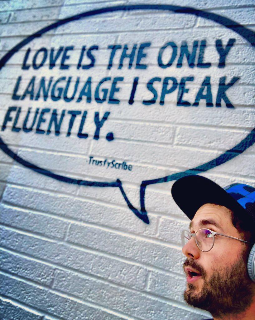 Do you speak #LOVE..? @trustyscribe . . . . . .  #vasilismanjuranis #love #lovequotes #greekvloggers #greekvlogger #greekyoutuber #greekyoutubers #youtuber #vlogger #dailyvlogging #losangeles #melroseavenue #california #trustyscribe