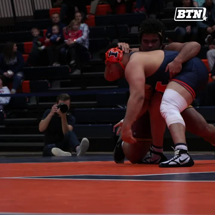 Is @GSteveson human? We might need @GopherWrestling to confirm.   The No. 1-ranked heavyweight helped Minnesota grab a win tonight against Illinois. @FloWrestling.