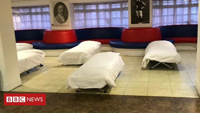 Crystal Palace to safe haven homeless at Selhurst Parkstadium Photo