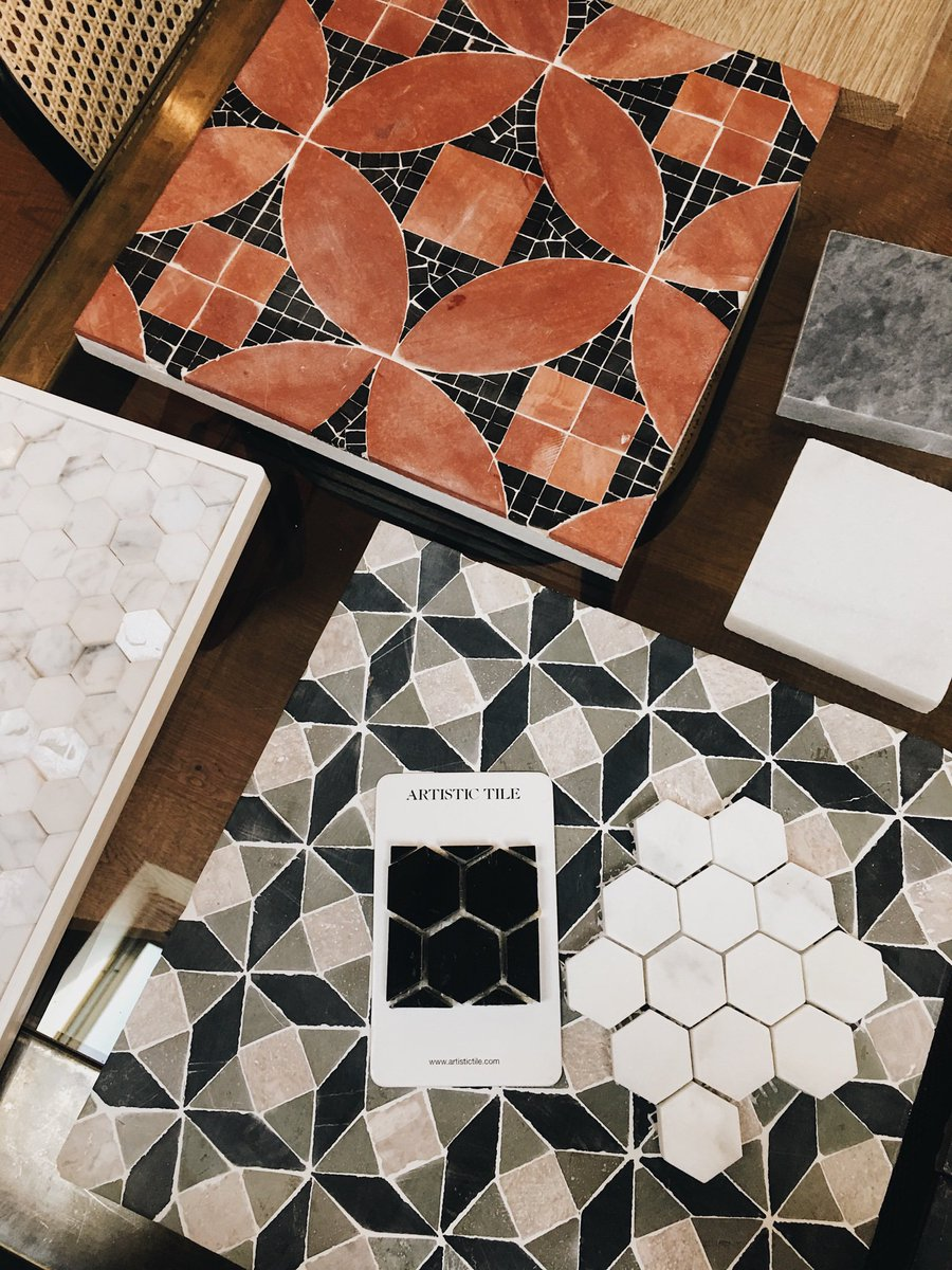 New tile samples, check out my IG stories for some more #JBDworks team in action! #JBDesignDaily