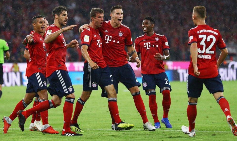 #FutbolInternacional  #Goretzka y #Lewandowski le dan el triunfo al #Bayern  http://bit.ly/2Cxmgue