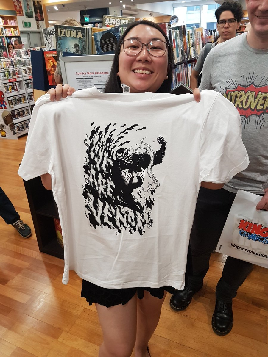 Kinokuniya Sydney Kinokuniyaaust Twitter Short Circuit Just Married Tshirt Get Your Free Venom Tee At Our Popup Here Today Until 4pm Only Or While Stocks Last Wearevenompic Sjwdlzlwif