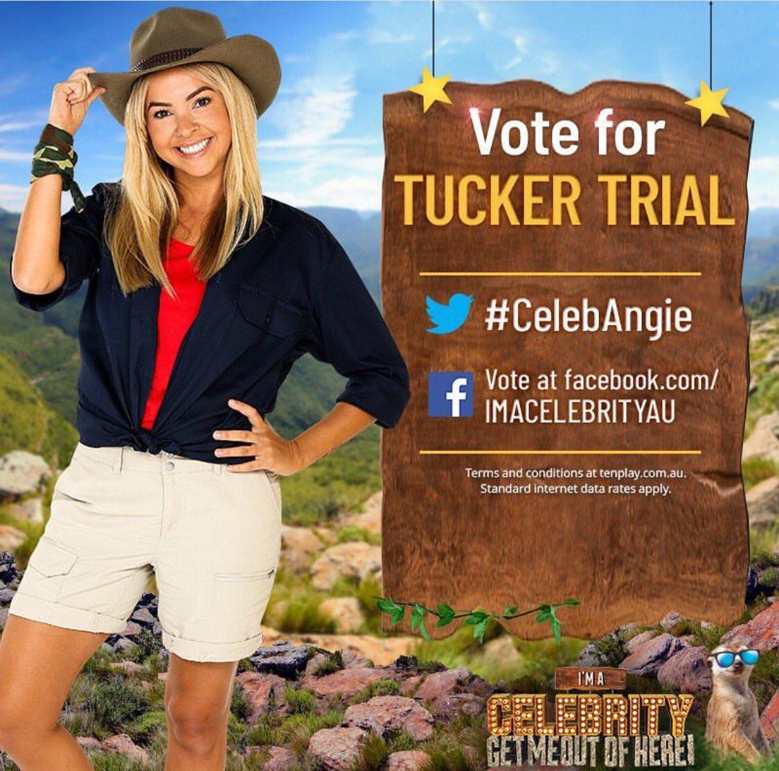 RT this to vote@Angiemkent into the next tucker trial! #CelebAngie