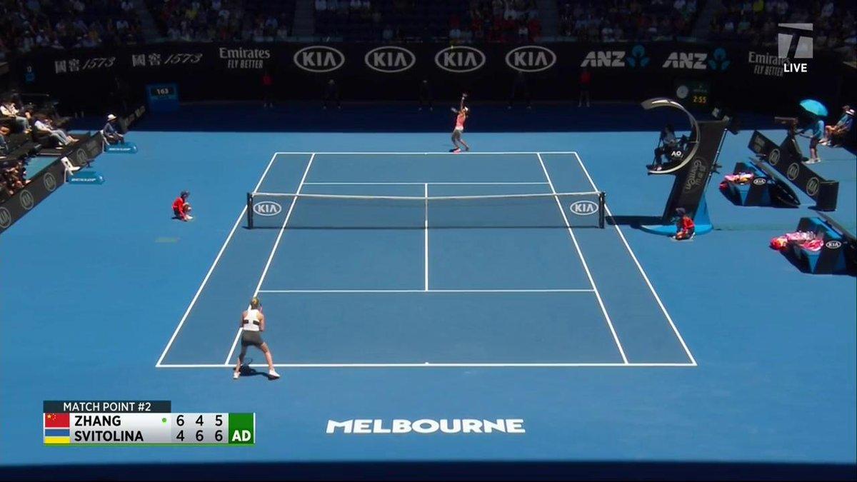 .@ElinaSvitolina prevails 🇺🇦💪 She defeats Zhang Shuai in a TIGHT one. 4-6, 6-4, 7-5 #AusOpen