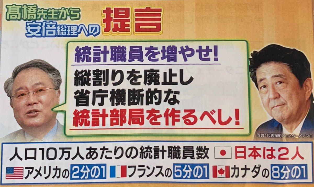正義のミカタ3。日本の統計職員数は世界と比較して少なすぎる。しかも世界では博士号持ちの専門家だが、日本はド文系ド素人ばかり。数も質も酷すぎ