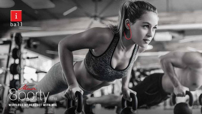 Take your workout sessions to the next level with iBall Musi Sporty wireless earphones. It is equipped with magnets that keep the earphones intact for greater ease and convenience #SaturdayMotivation Explore More: Photo