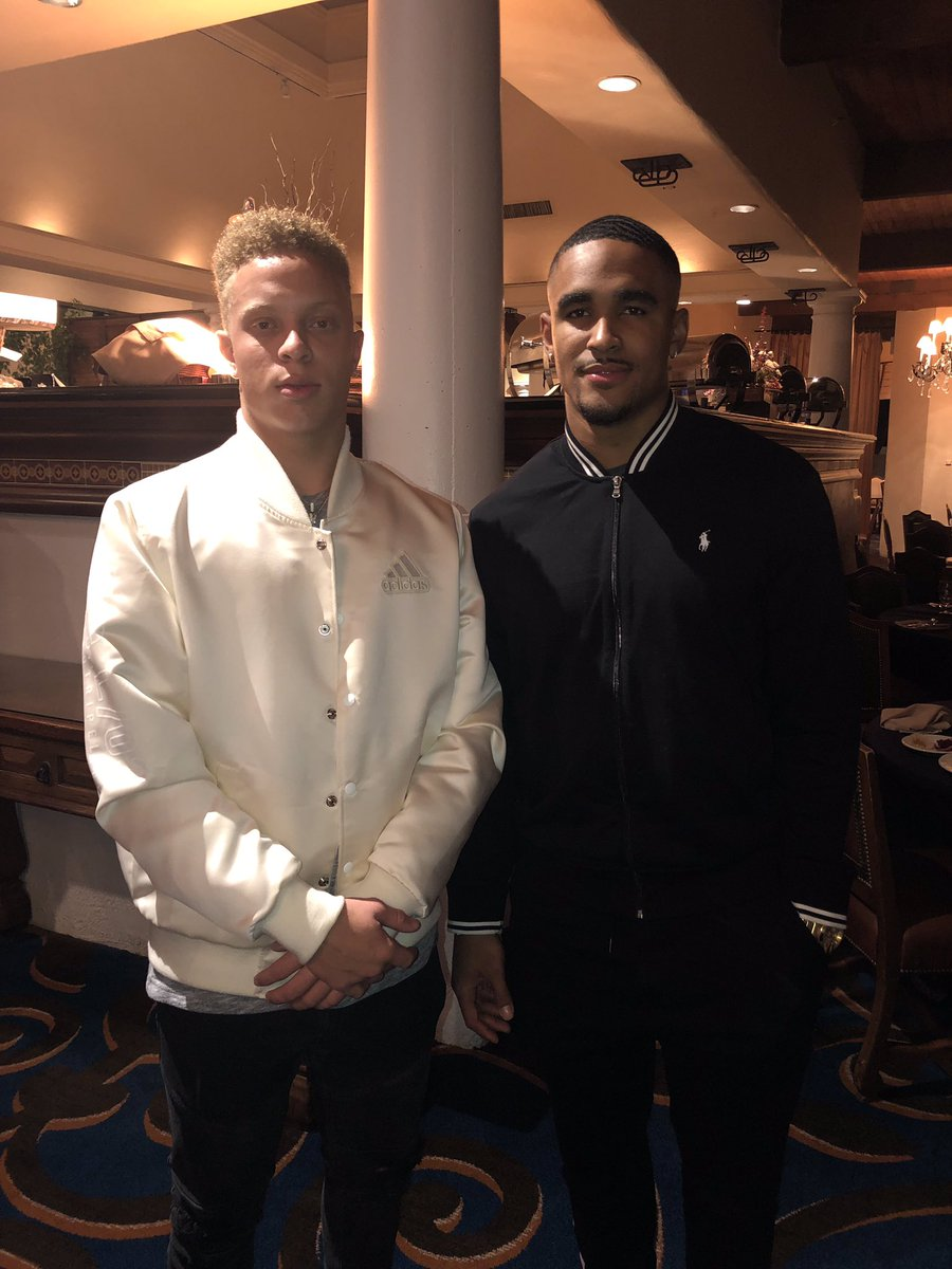 "Spencer Rattler Posts Photo With Jalen Hurts: ""Iron Sharpens Iron"""